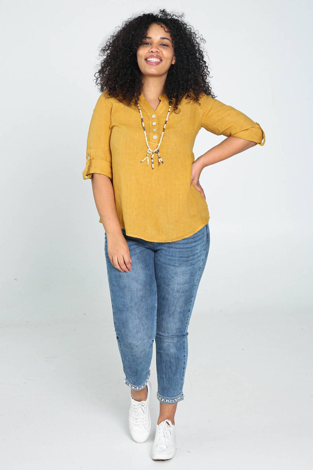 Paprika blouse okergeel, Okergeel