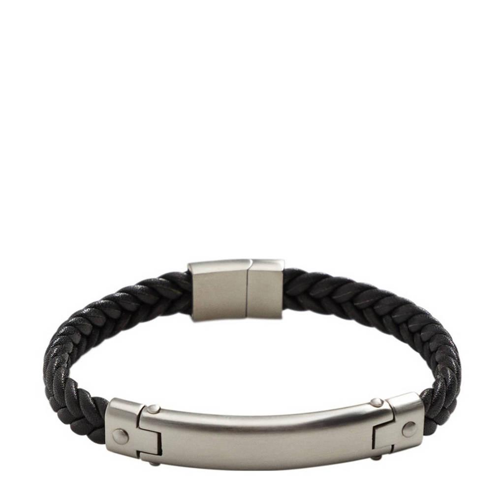 Mango Man armband zwart, Zwart