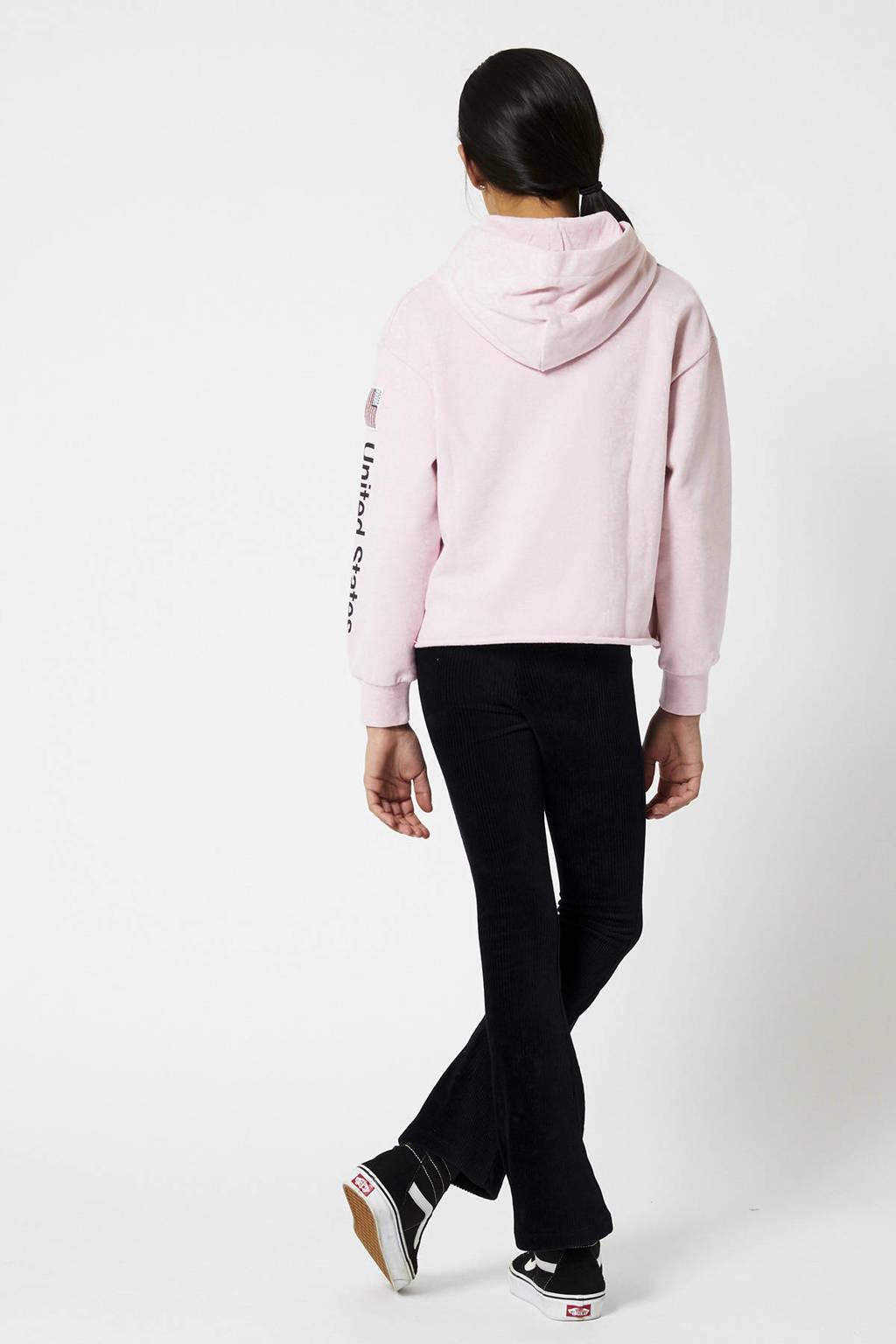 America Today Junior hoodie met tekst roze, Roze