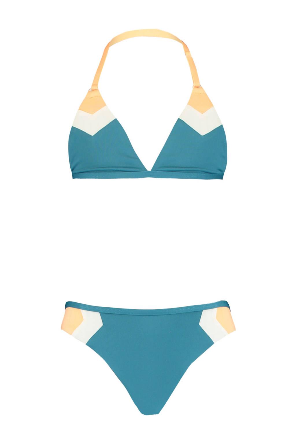 America Today Junior bikini Aileen petrol/wit, Petrol/wit