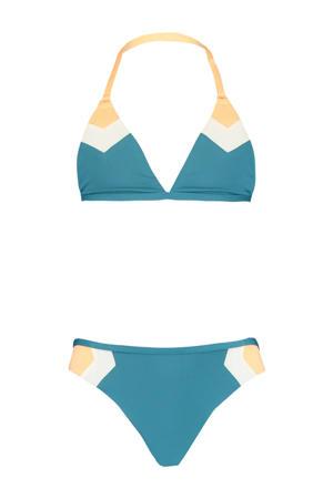 bikini Aileen petrol/wit
