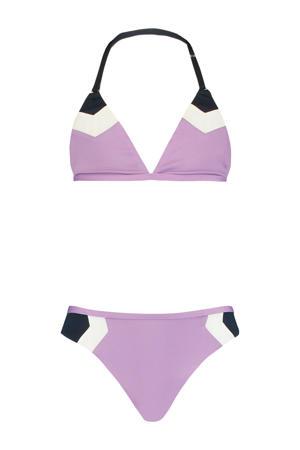 bikini Aileen lila/wit