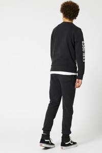 America Today Junior sweater met tekst zwart, Zwart