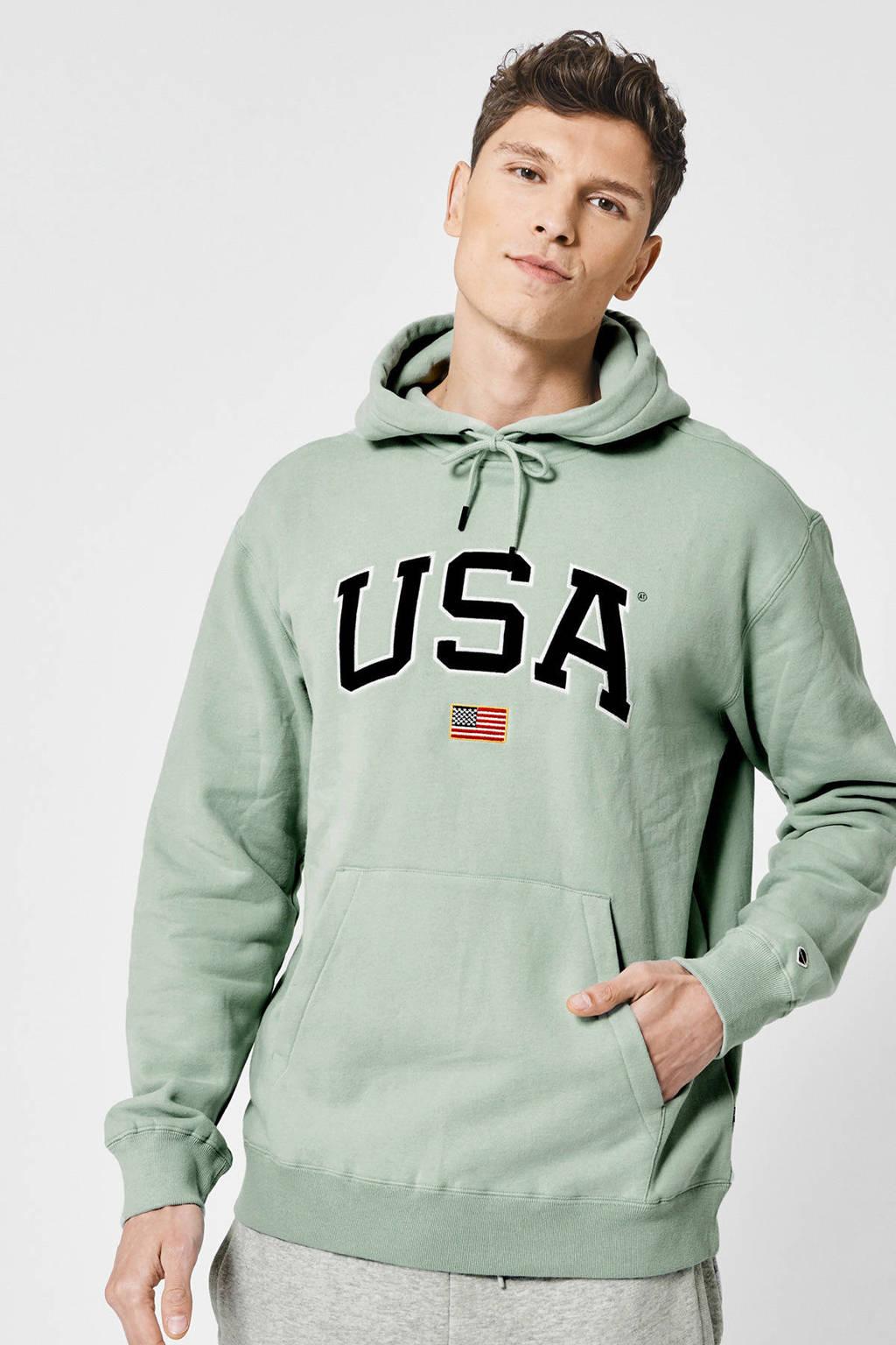 America Today hoodie met tekst mintgroen, Mintgroen