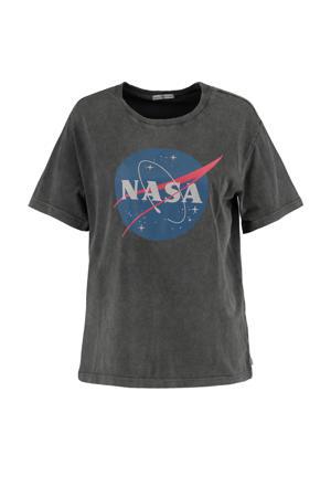 T-shirt met printopdruk antraciet/blauw/rood