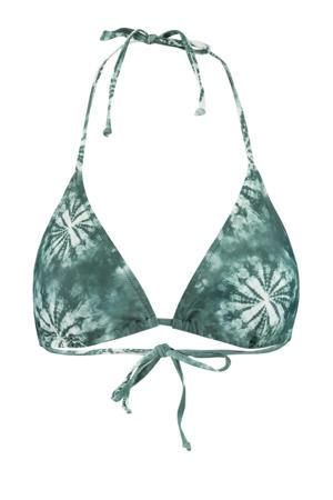 tie-dye triangel bikinitop Amber groen/wit