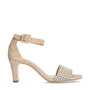 suède sandalettes beige