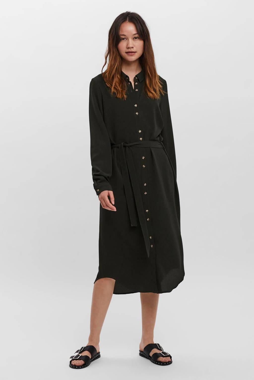 VERO MODA semi-transparante blousejurk VMSASHA zwart, Zwart