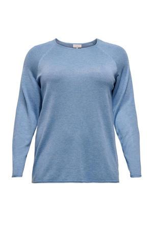 gebreide trui CARLAD lichtblauw