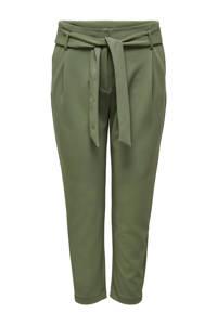 ONLY CARMAKOMA high waist tapered fit broek CARCAROLINUS groen, Groen