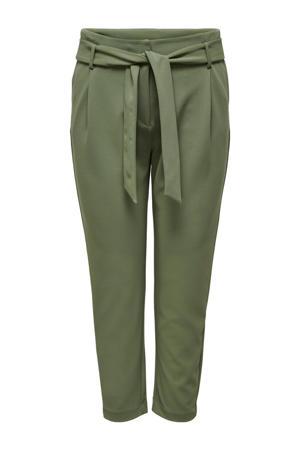 high waist tapered fit broek CARCAROLINUS groen