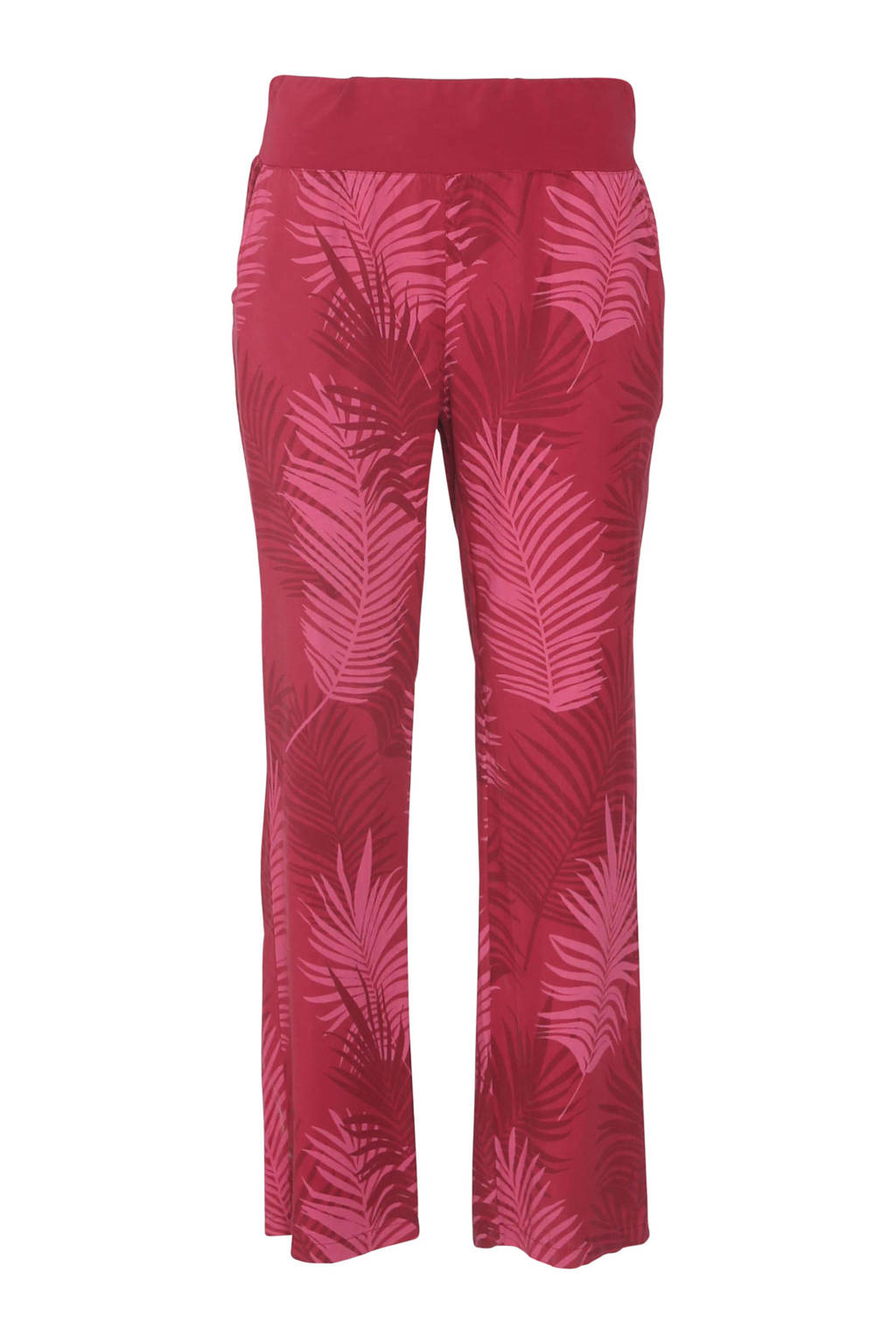 Cassis straight fit broek met all over print rood, Rood