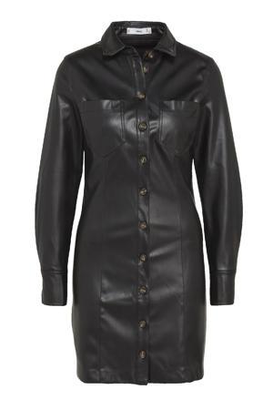 coated blousejurk zwart