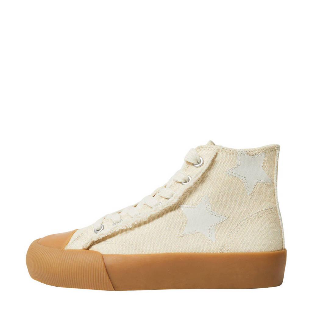 Mango Kids   hoge sneakers ecru, Ecru/wit