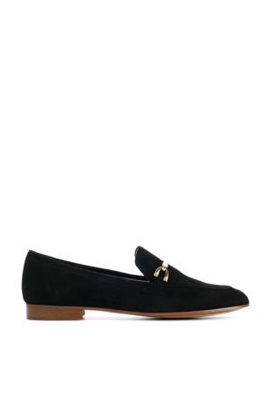 Janca  suède loafers zwart