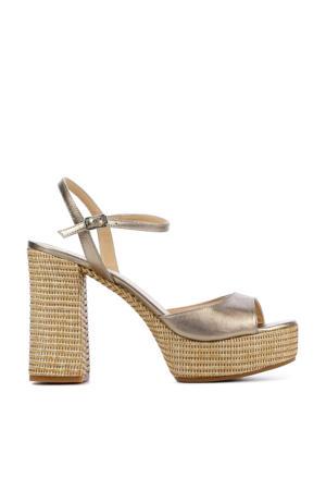 Vegara  leren sandalettes goud