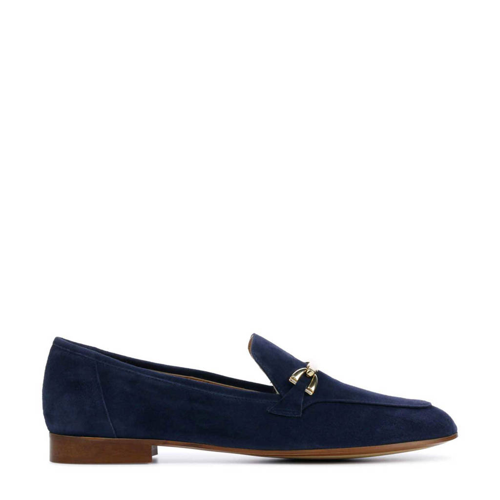 Lamica Janca  suède loafers donkerblauw, Donkerblauw
