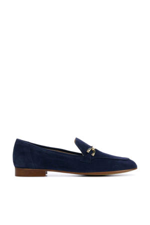 Janca  suède loafers donkerblauw
