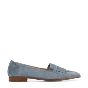 Serella  suède loafers grijsblauw