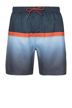 zwemshort Erwin donkerblauw/rood