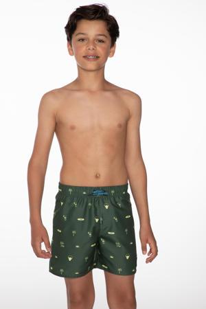 zwemshort Jorn met all over print groen