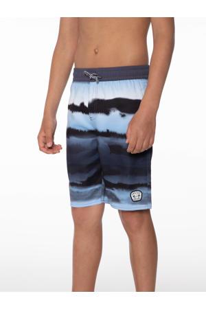 tie-dye zwemshort Mash donkergrijs/lichtblauw