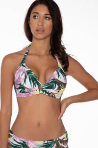 Protest gebloemd hipster bikinibroekje Juliana lichtroze/groen