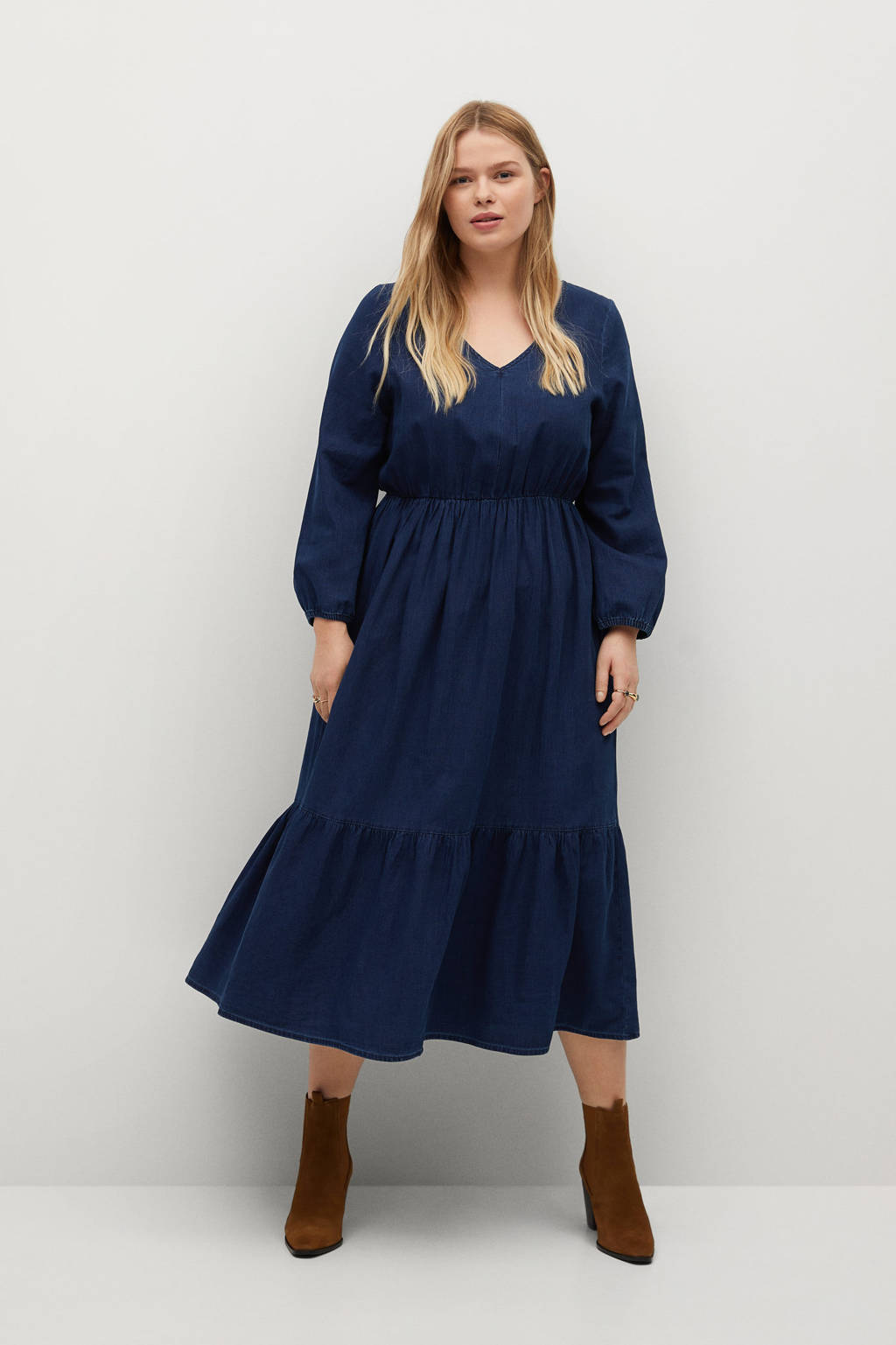 Violeta by Mango jurk blauw, Blauw