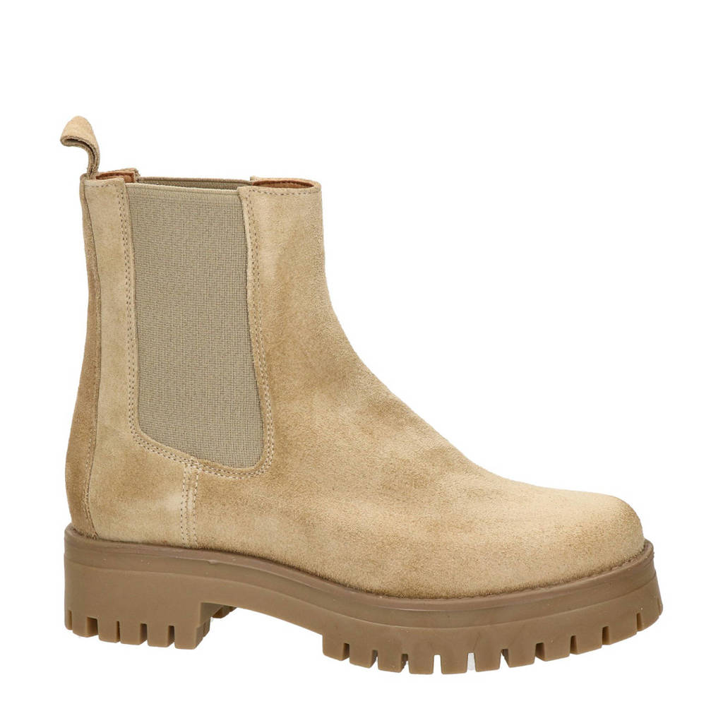 Nelson   suède cheslea boots camel, Camel