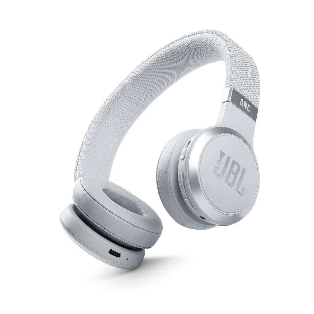 JBL Live 460NC draadloze over-ear hoofdtelefoon (wit), Wit