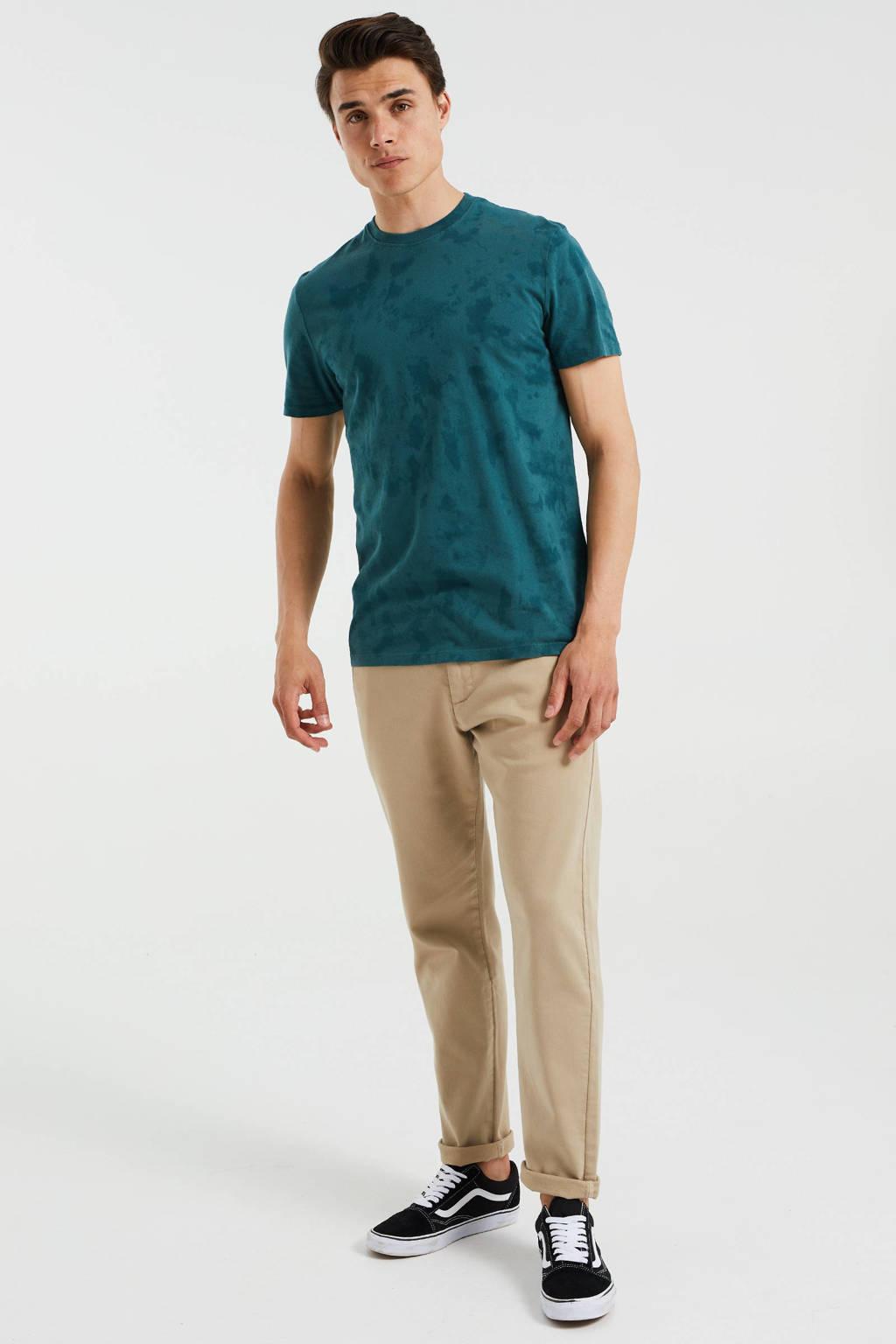 WE Fashion slim fit T-shirt met Tie-dye print Botanic