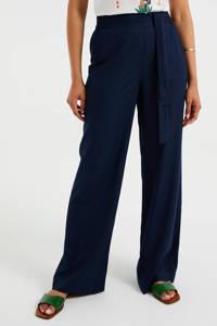 WE Fashion wide leg palazzo broek donkerblauw, Donkerblauw