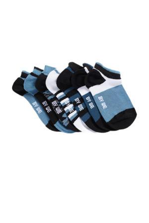 enkelsokken - set van 7 donkerblauw/wit/blauw