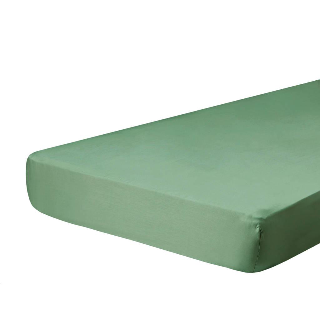 W katoenen hoeslaken groen, Groen