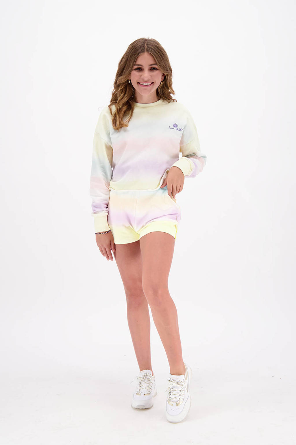 Vingino x Senna Bellod sweater Nenah lichtgeel/multicolor, Lichtgeel/multicolor