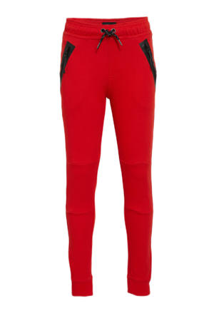 regular fit joggingbroek Lax rood