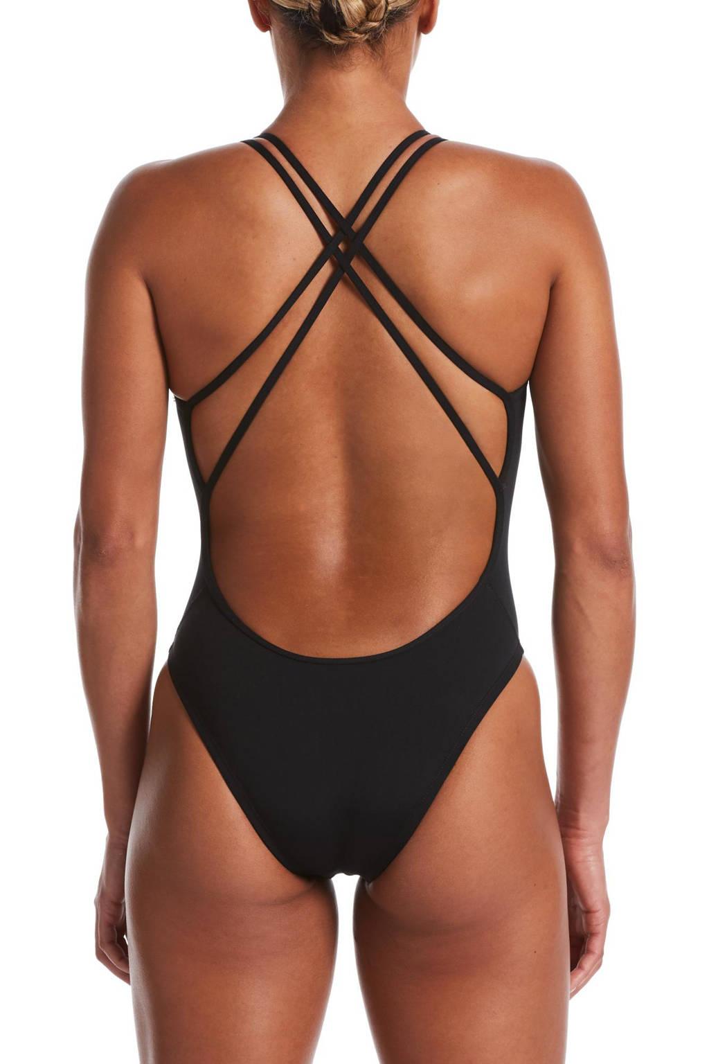 Nike sportbadpak zwart, Zwart
