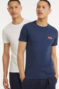 Levi's T-shirt (set van 2) wit/donkerblauw, Wit/donkerblauw