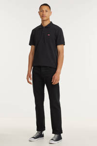 Levi's regular fit polo zwart, Zwart