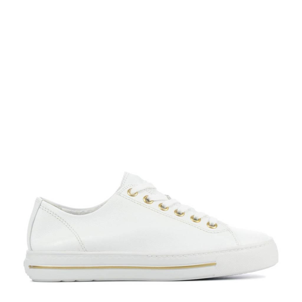 Paul Green 4704  leren sneakers wit, Wit