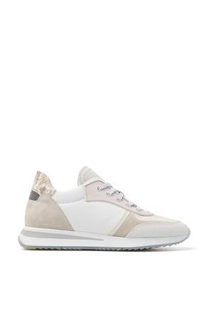 5611019  leren sneakers wit/beige