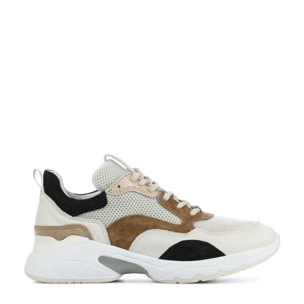 Via Vai 5408055  leren chunky sneakers beige/bruin, Beige/bruin