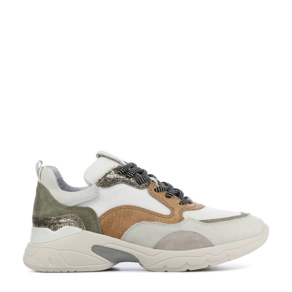 Via Vai 5408055  leren chunky sneakers wit/multi, Wit/multi