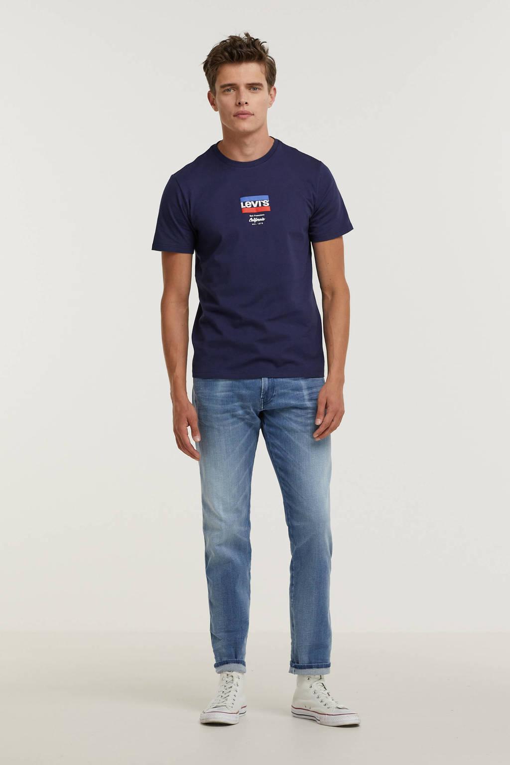 Levi's T-shirt met logo blauw, Blauw