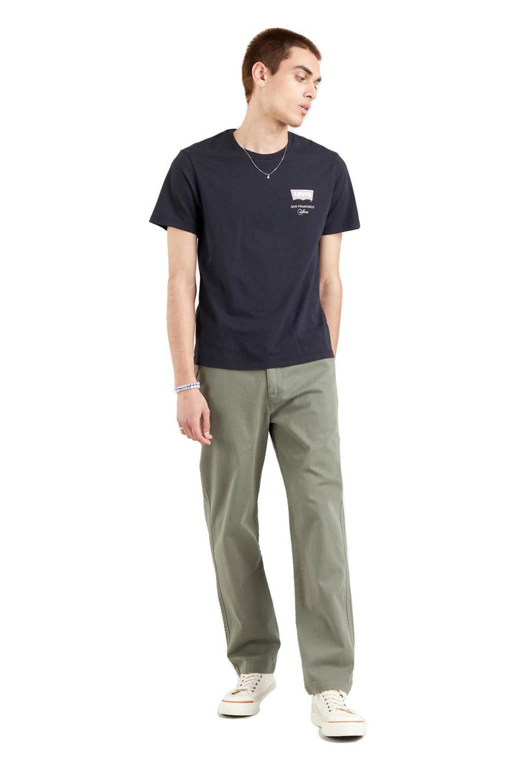 Levi's T-shirt met logo zwart, Zwart