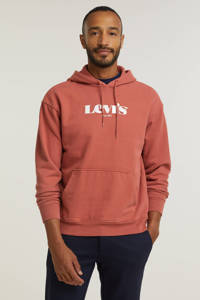 Levi's hoodie met logo brique, Brique