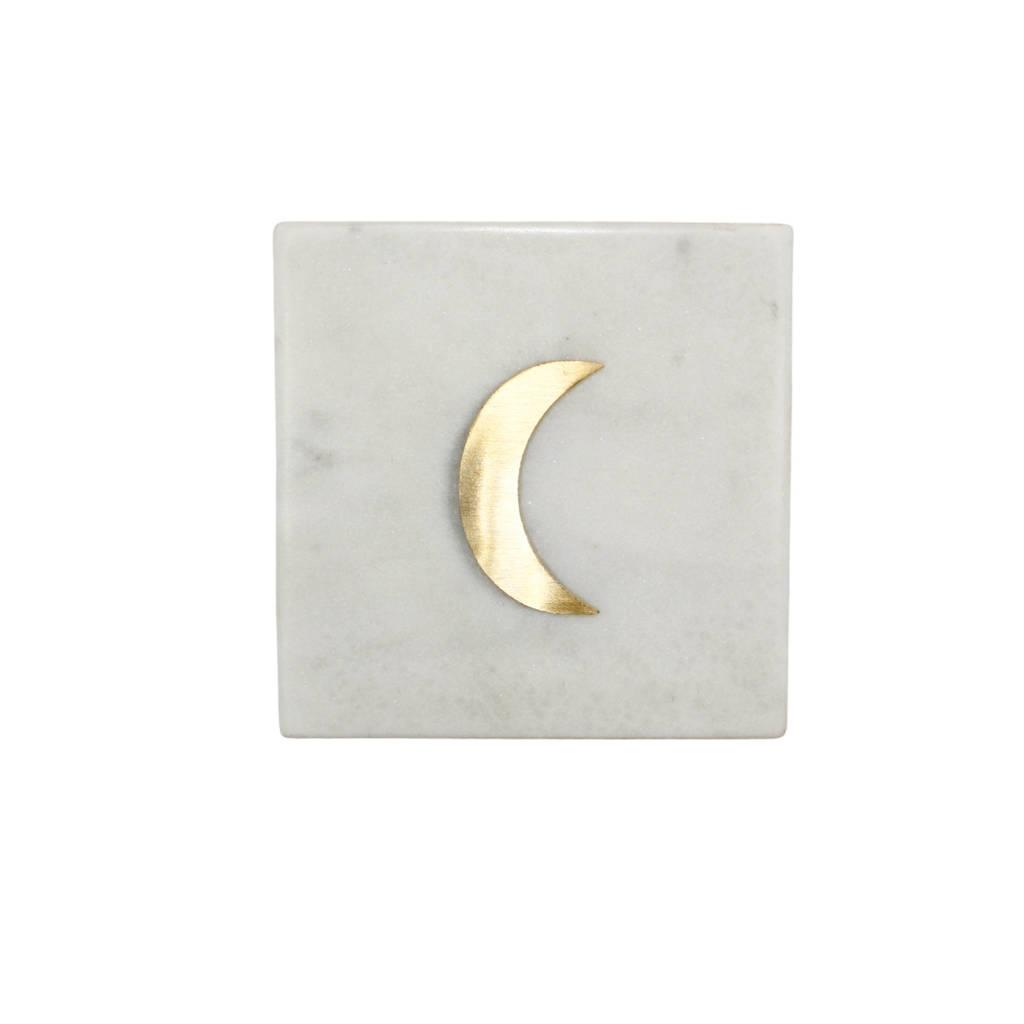 À la onderzetter (per stuk), Wit/grijs/goud