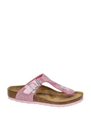Gizeh  teenslippers met glitters roze
