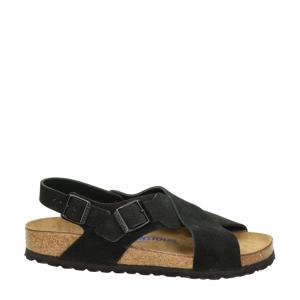 Tulum  suède sandalen zwart