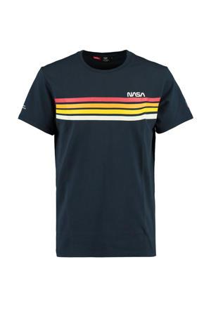 T-shirt NASA met printopdruk donkerblauw